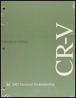 2002 Honda CR-V Electrical Troubleshooting Manual Original