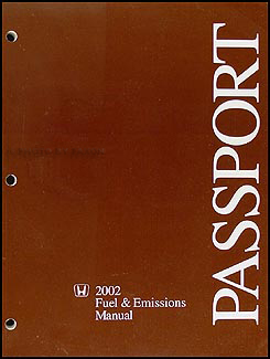 2002 Honda Passport Fuel & Emissions Repair Manual Original