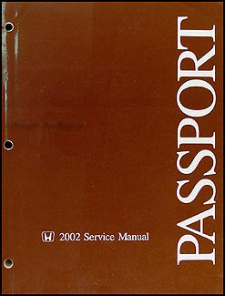 2002 Honda Passport Repair Manual Original