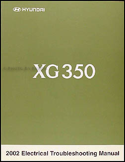 2002-2003 Hyundai XG 350 Original Electrical Troubleshooting Manual