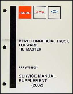2002 FRR & WT5500 Repair Manual Supplement