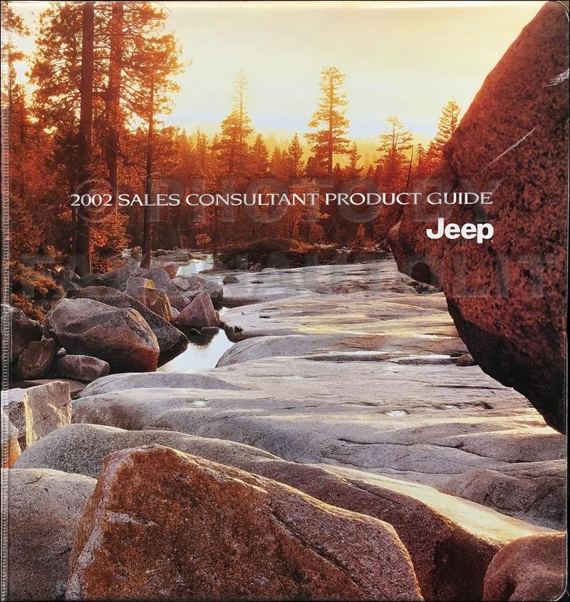 2002 Jeep Color and Upholstery Dealer Album and Data Book Original