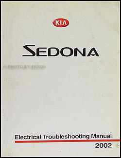 2002 Kia Sedona Electrical Troubleshooting Manual Original