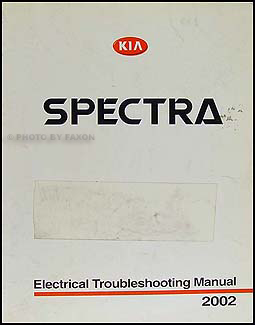 2002 Kia Spectra Electrical Troubleshooting Manual Original