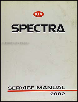 2002 Kia Spectra Repair Manual Original