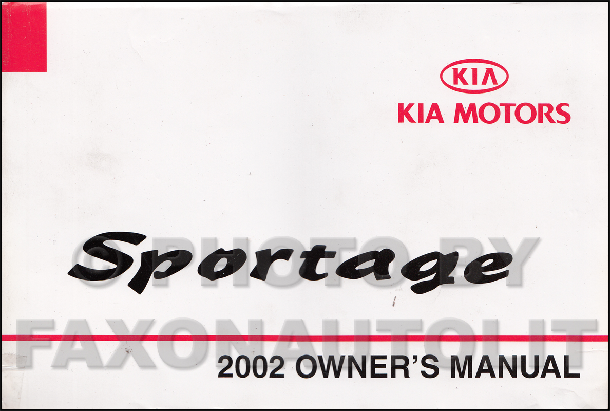 2002 Kia Sportage Owners Manual Original