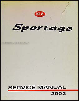 2002 Kia Sportage Repair Manual Original