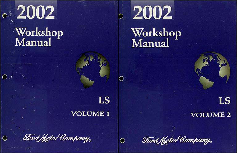 2002 Lincoln LS Repair Manual Original 2 Volume Set