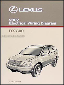 2002 Lexus RX 300 Wiring Diagram Manual OriginalFaxon Auto Literature