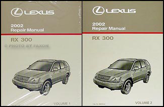 2002 Lexus RX 300 Repair Manual 2 Volume Set Original RX300