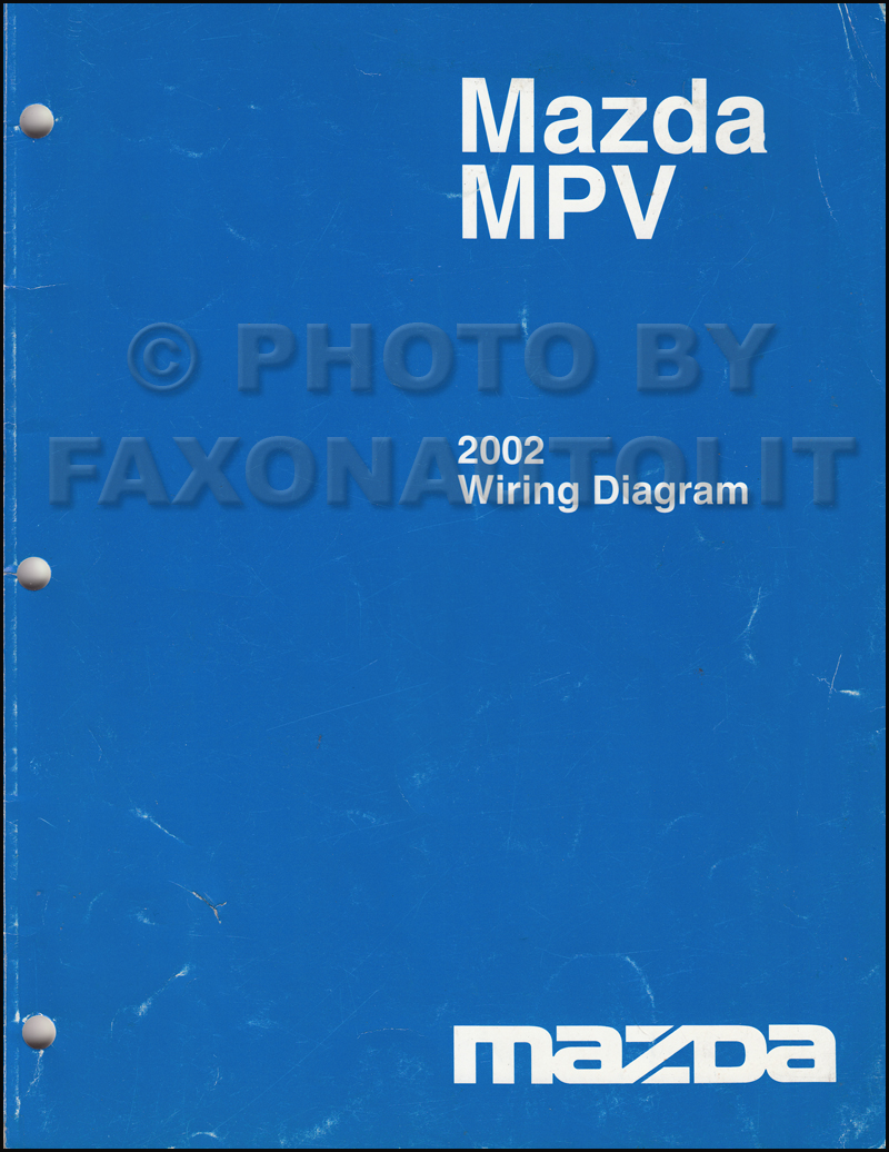 2002 Mazda MPV Wiring Diagram Manual Original