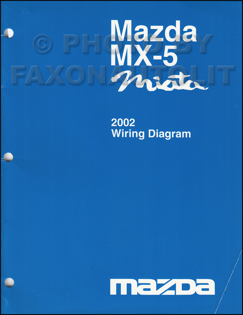 2002 Mazda MX-5 Miata Wiring Diagram Manual Original
