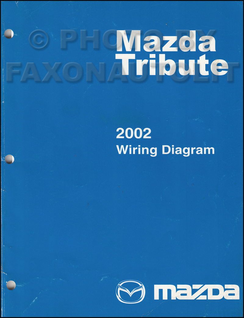 2002 Mazda Tribute Wiring Diagram Manual Original