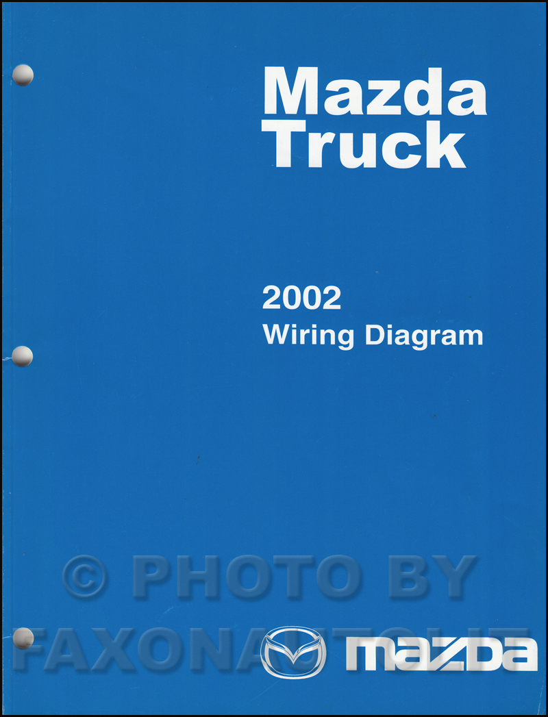2002 Mazda Truck Wiring Diagram Manual Original B2300