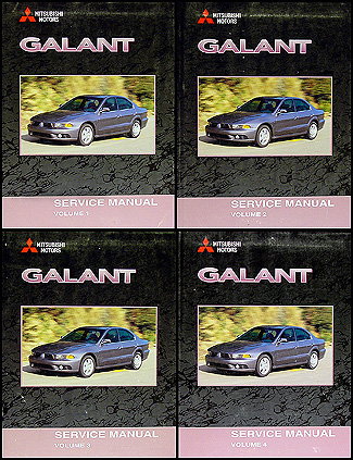2002 Mitsubishi Galant Repair Manual Set Original