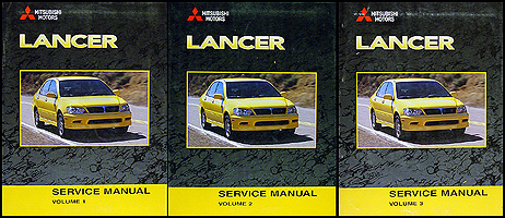 2002 Mitsubishi Lancer Repair Shop Manual Original 3 Vol. set