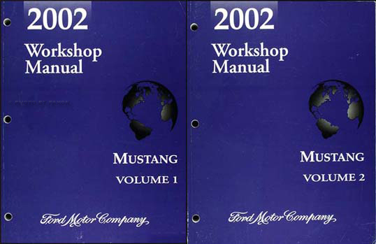 2002 Ford Mustang Shop Manual Original 2 Volume Set