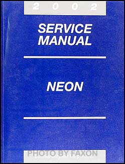 2002 Neon Shop Manual Original CD-ROM