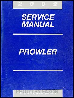 2002 Chrysler Prowler Shop Manual Original