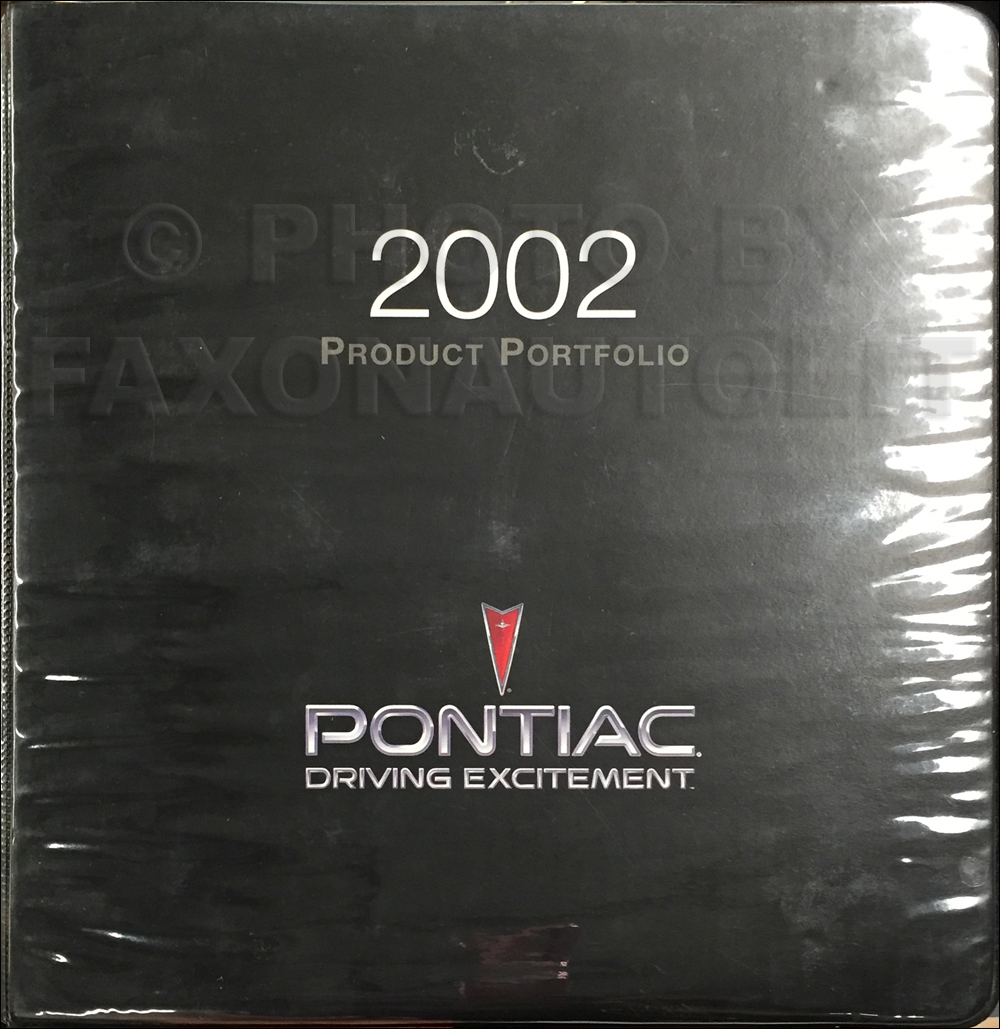 2002 Pontiac Color & Upholstery, Data Book Dealer Album Original