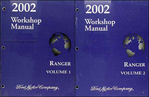 2002 Ford Ranger Repair Manual Original 2 Volume Set