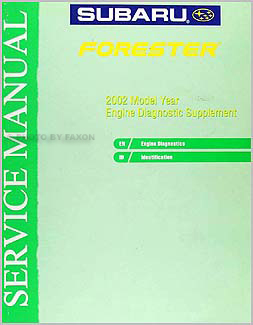 2002 Subaru Forester Engine Diagnostic Manual Original Supplement