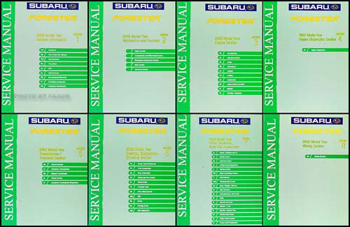2002 Subaru Forester Repair Manual Original 8 Volume Set