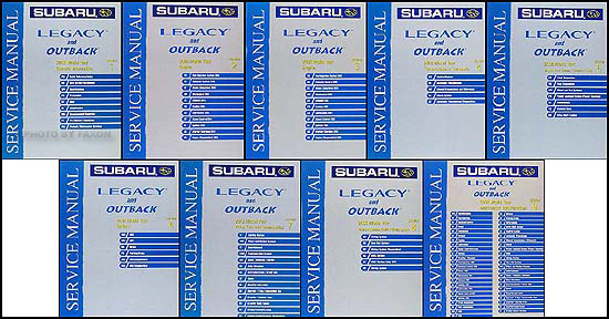 2002 Subaru Legacy & Outback Repair Manual Set Original - 9 volumes