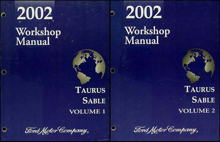 2002 Ford Taurus Mercury Sable Repair Shop Manual Original 2 Volume Set