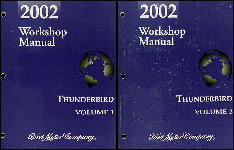2002 Ford Thunderbird Shop Manual 2 Volume Set Original