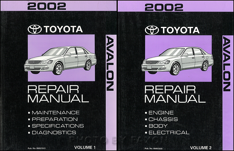 2002 Toyota Avalon Wiring Diagram Manual Original