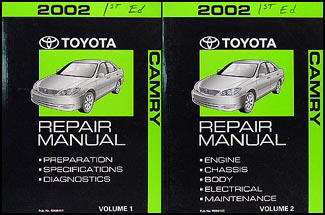 2002 Toyota Camry Repair Manual 2 Volume Set Original