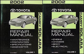 2002 Toyota Camry Solara Repair Manual Original Set