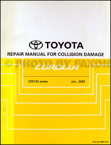 1990-1993 Toyota Celica Body Collision Repair Manual Original
