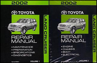 2002 Toyota Land Cruiser Repair Manual 2 Volume Set Original