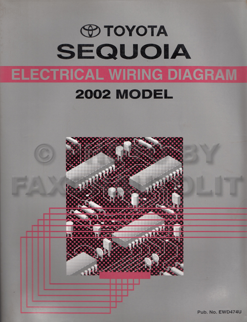 2002 Toyota Sequoia Wiring Diagram Manual Original