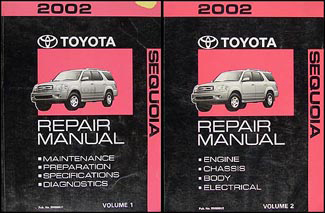 2002 Toyota Sequoia Repair Manual Original Set