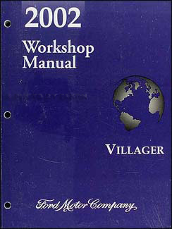 2002 Mercury Villager Wiring Diagram Manual Original