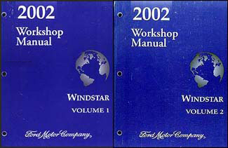 2002 Ford Windstar Repair Manual 2 Volume Set Original