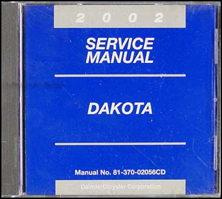2002 Dodge Dakota Repair Manual CD-ROM Original