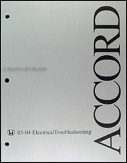 2003-2004 Honda Accord Electrical Troubleshooting Manual Original on