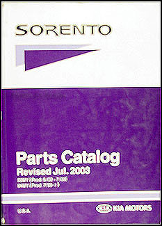 2003-2004 Kia Sorento Parts Book Original