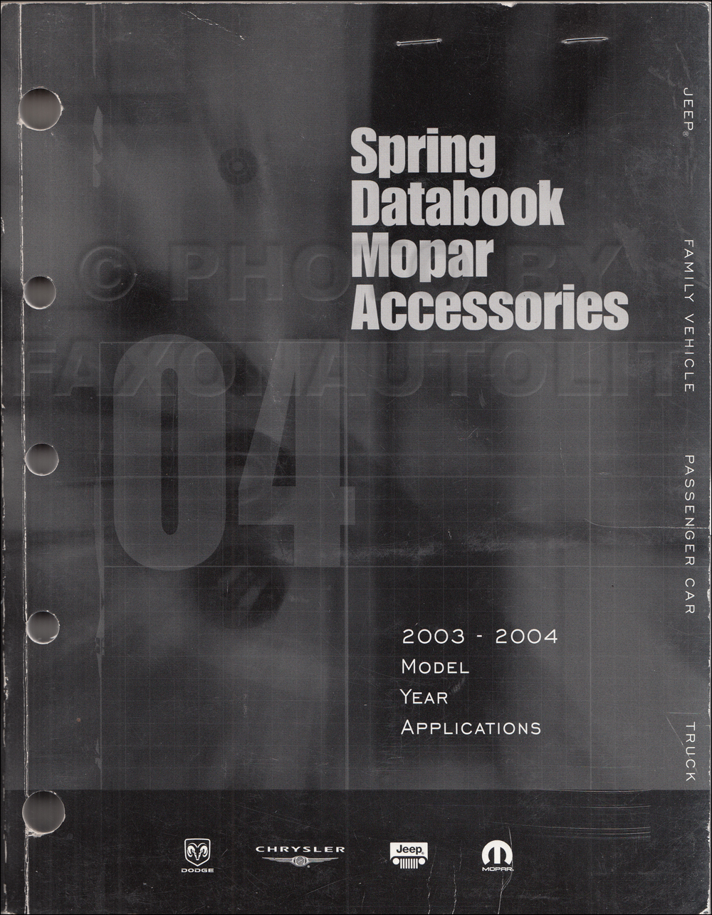 2003-2004 MoPar Accessories Databook Original Spring