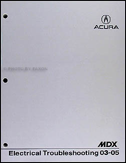2003-2005 Acura MDX Electrical Troubleshooting Manual Original
