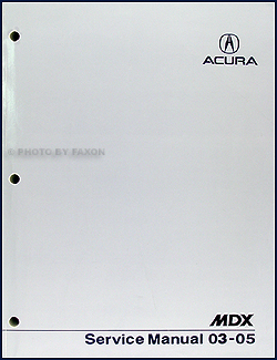 2003-2005 Acura MDX Shop Manual Original