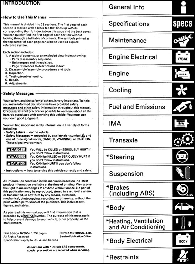 2003 2004 2005 honda civic hybrid repair shop manual original rh faxonautoliterature com 2005 honda civic wiring schematic 2005 honda civic wiring schematic