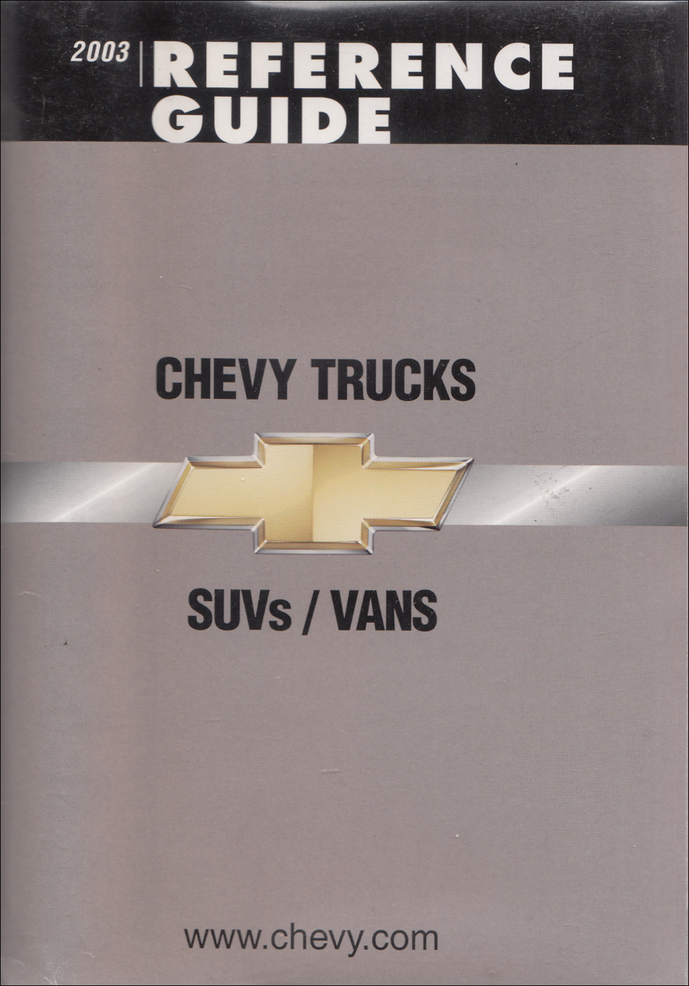 2003 Chevrolet SUV's & Vans Color & Upholstery Dealer Album/Data Book Original