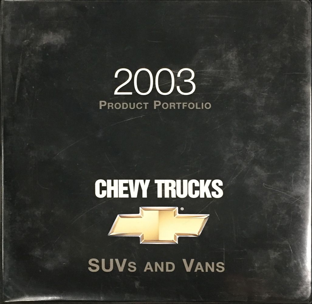 2003 Chevrolet SUVs & Vans Color & Upholstery Dealer Album/Data Book Original