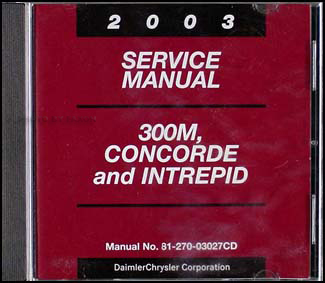 2003 Concorde, Intrepid, & 300M CD-ROM Shop Manual