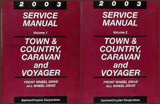 2003 MiniVan Shop Manual Original Town & Country, Caravan, Voyager